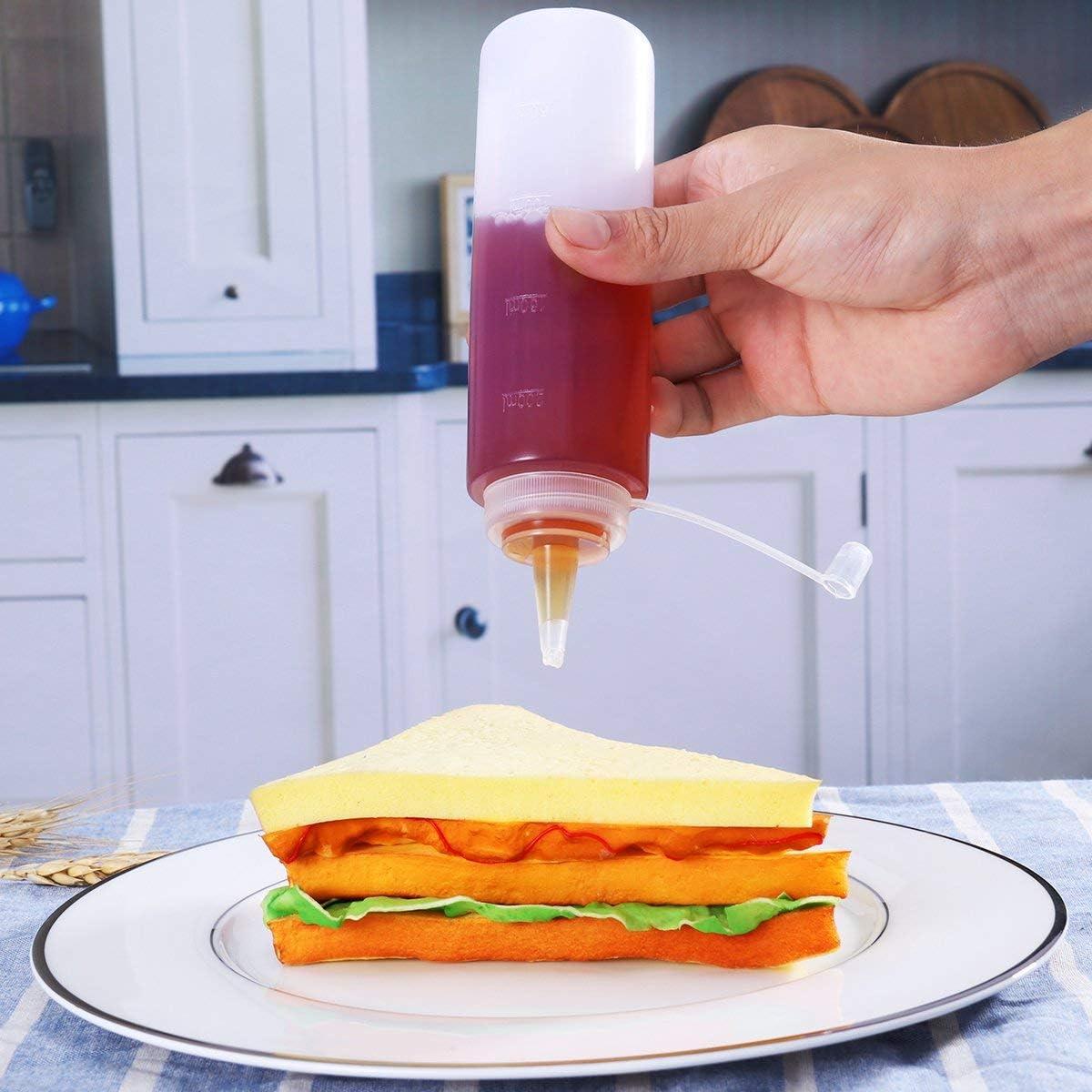 salsa caliente y aceite de oliva color blanco Botellas de salsa mayonesa mostaza 3 dispensadores de condimento de 200 ml para condimentos