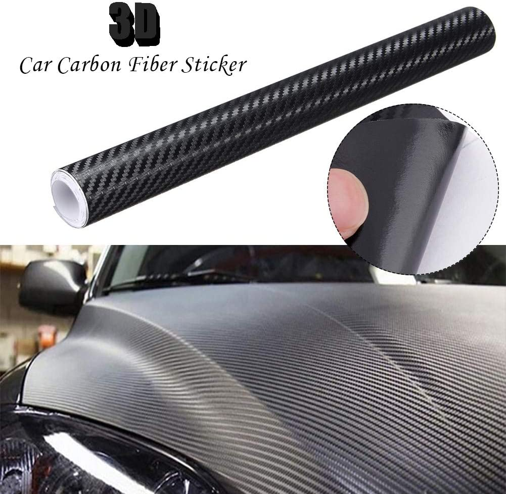 Carbon Fiber Car Vinyl Wrap Ultra Gloss Sticker Decal Black Graphics Width30cm
