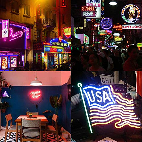 KERTME Neon Led Type AC 110-120V LED NEON Light Strip, Flexible/Waterproof/Dimmable/Multi-Colors/Multi-Modes LED Rope Light + 24 Keys Remote for Home/Garden/Building Decoration (16.4ft/5m, RGB) by KERTME (Image #7)