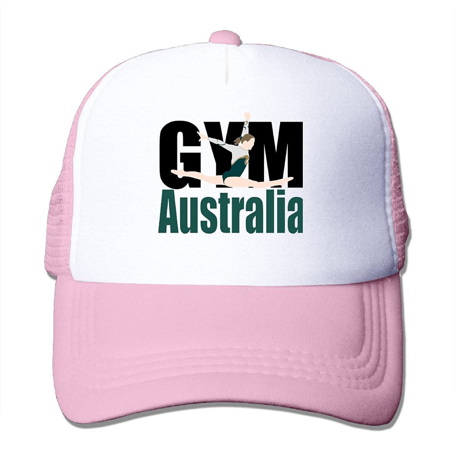Artist GYM Australia Adult Nylon Adjustable Mesh Hat Mesh Cap Red One Size Fits Most
