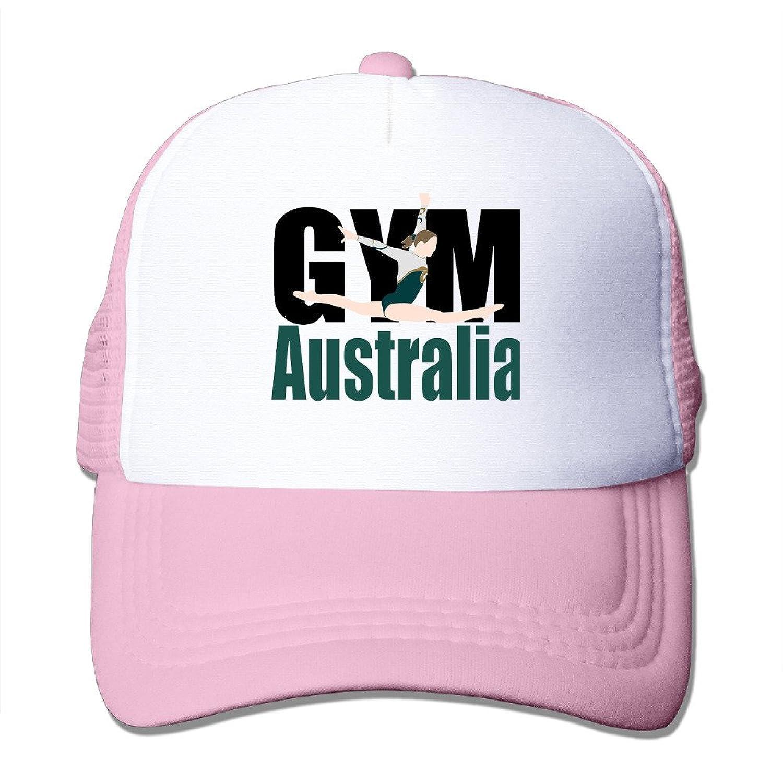 Artist GYM Australia Adult Nylon Adjustable Mesh Hat Mesh Cap Red One Size Fits Most