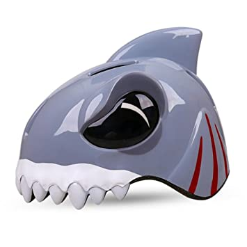 Outdoor Sports Kids Riding Cycling Helmet Skating Scooter Cartoon Shark Bicycle Mtb Bike Safety Helmets 48 52cm