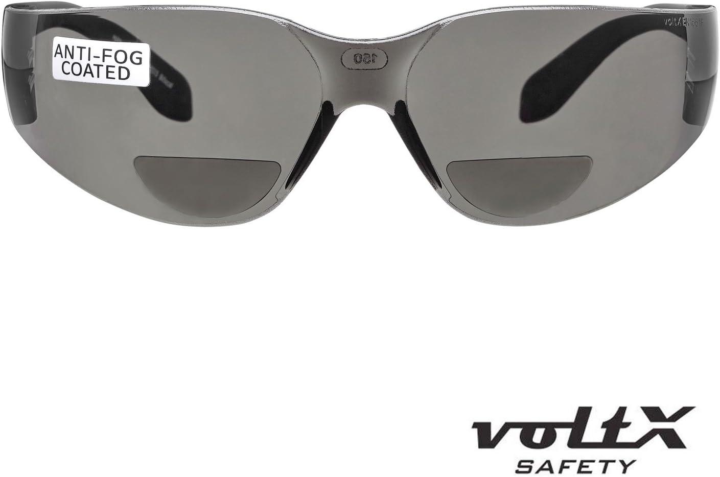 Leichtgewichts Industrie Lesen Schutzbrille Erweiterbarer Sicherheitsbeutel voltX /'Grafter/' BIFOKALE Anti Fog UV400 Linse//Sportbrille f/ür Radler CE EN166F Zertifiziert KLAR +1.5 Dioptrie