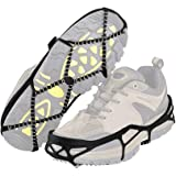 Jane Choi Ice Snow Shoes Grips, Anti-Slip Ice Boot Gripper Universal Winter Walk Traction Cleats Device for Ice Hiking Fishing Climbing Outdoor Travelling (1 Pair)