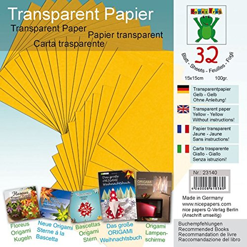 Transparentpapier Gelb 15 x 15 cm: Material für