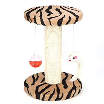 Fdit Mascotas Escalada Tablero Juguetes para Gatos Peluche Pequeño Gato Litter Coño Scratcher Juguete Gato Casa Cáñamo Cuerda Publicar Entrenamiento ...