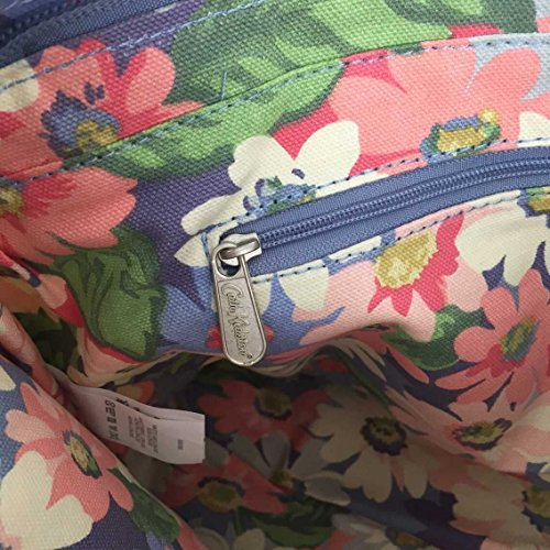 Kidston Handbag Matt Cath Painted 15SS Pastel Zipped Oilcloth Strap with Detachable Daisy 7UaqT6