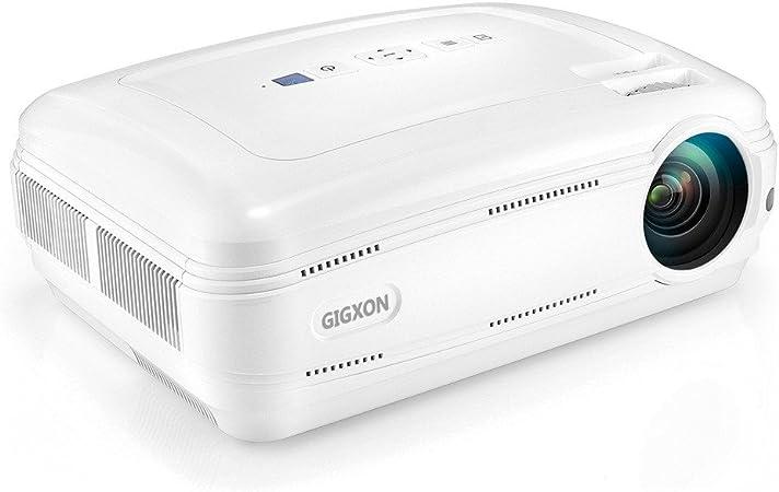 GIGXON 3200 lúmenes HD 1080P LED Proyector Multimedia Cine en casa ...