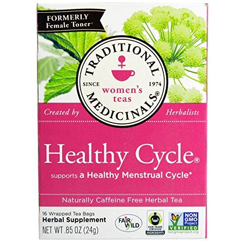 Traditional Medicinals, Healthy Cycle, Caffeine Free, 16 Tea Bags by Traditional Medicinals
