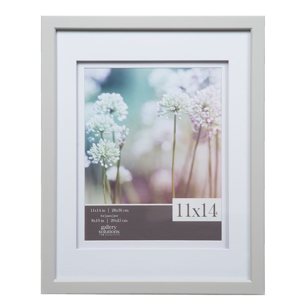 Gallery Solutions 11x14 Black Wood Wall Frame with Double Black Mat For 8x10 Image NBG Home 12FW1668