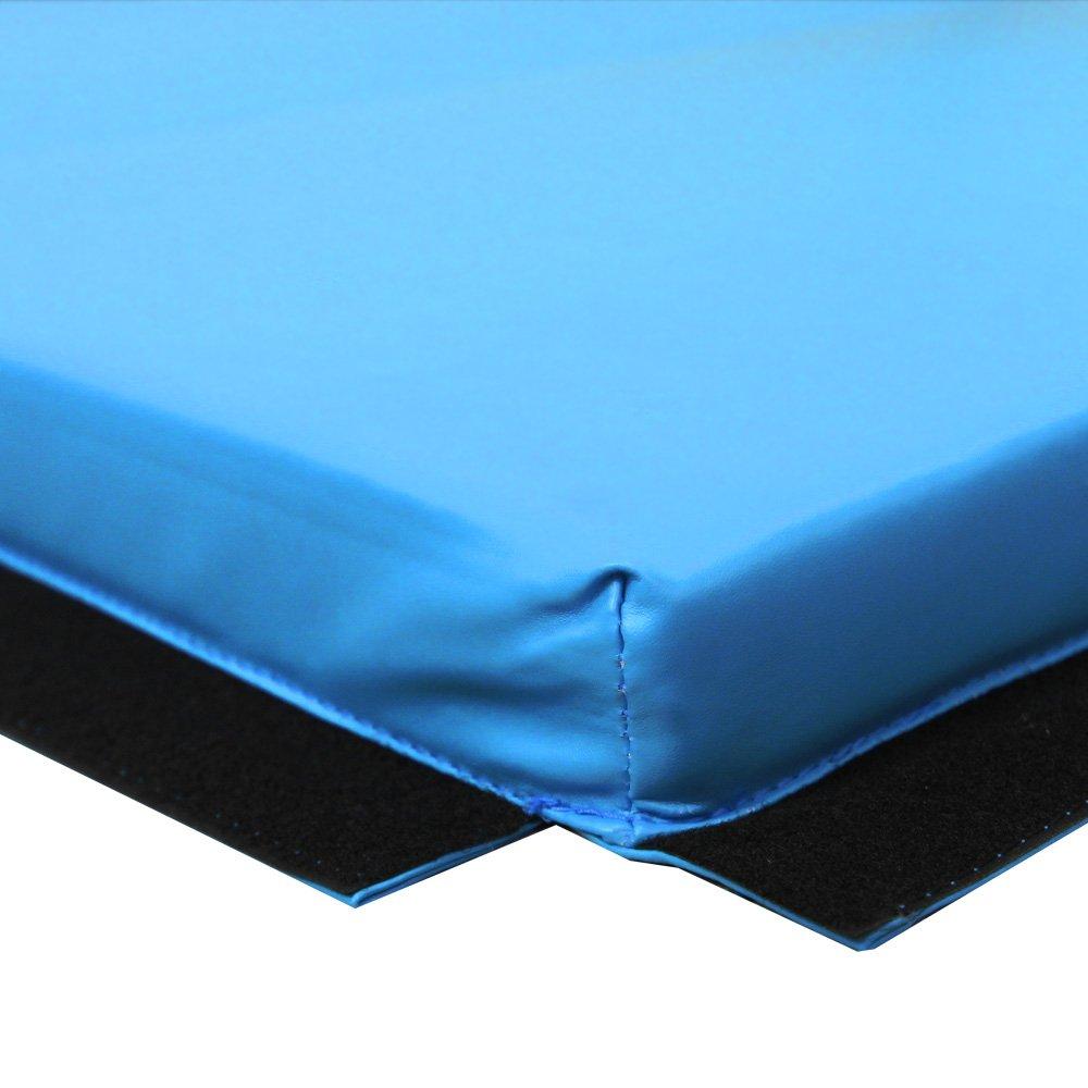 PRISP Colchoneta de Gimnasia 240 cm Plegable de Suave Espuma antiderrapante para Ejercicio Fitness y Gimnasia en Interiores y en casa; Largo: 240cm, ...