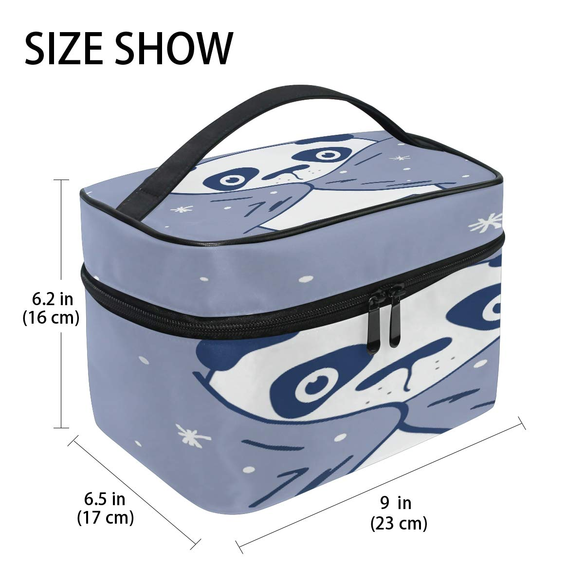 Amazon.com: Cutexl Cosmetic Bag Cute Abstract Animal Panda ...