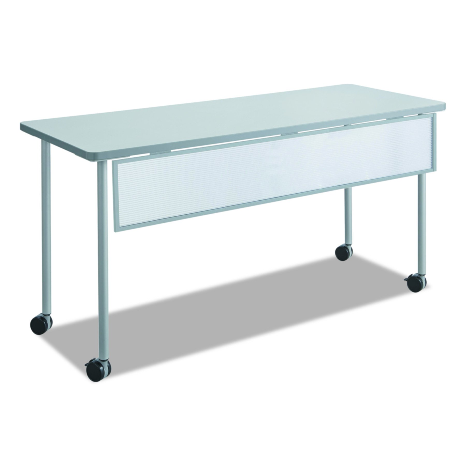 Safco Products 2076SL Impromptu Mobile Training Table Modesty Panel for 60''W Table (Table Top and Base sold separately), Silver Frame
