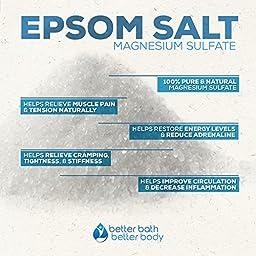 Dry Skin Bath Salt 8-Lbs Bulk Size (128 Ounces) - Epsom Salt With Lavender & Geranium Essential Oils & Vitamin C - Moisturize & Restore Itchy Dry Skin & Eczema - Natural Ingredients, No Perfume No Dye