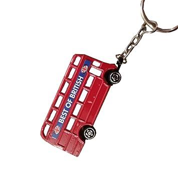 Porte clefs en métal bus Londonien
