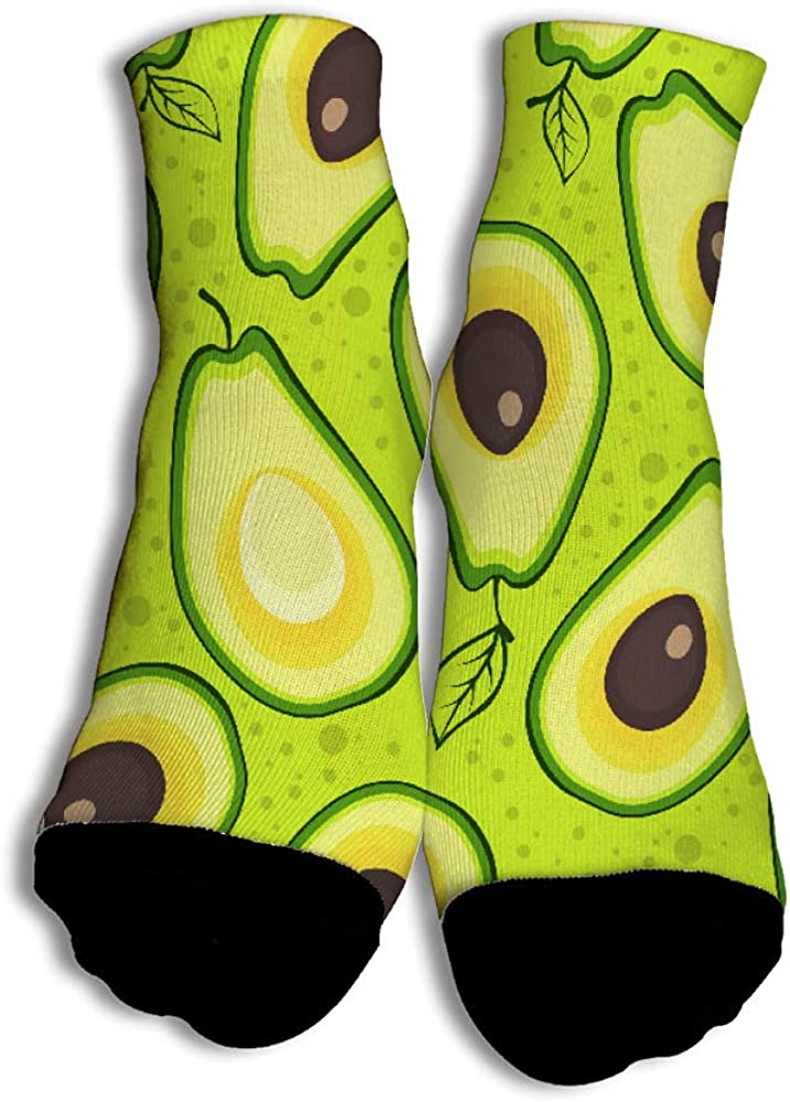 Avocado Unisex Funny Casual Crew Socks Athletic Socks For Boys Girls Kids Teenagers