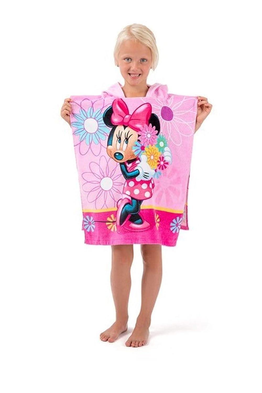 Kinder Poncho Badetuch mit Kapuze Strandtuch Handtuch Duschtuch-Kapuze