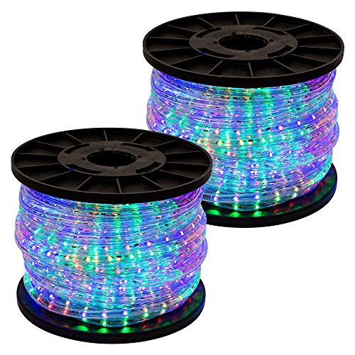 GotHobby 300' RGB Multi Color 2-wire LED Rope Light Home Outdoor Christmas Party Lighting by GotHobby