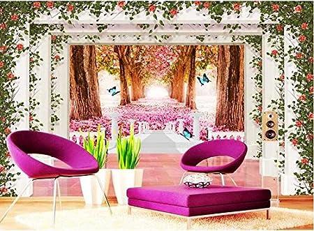 Malilove 3D Wallpaper Custom Mural 3D Room Wallpaper Cherry Blossom ...