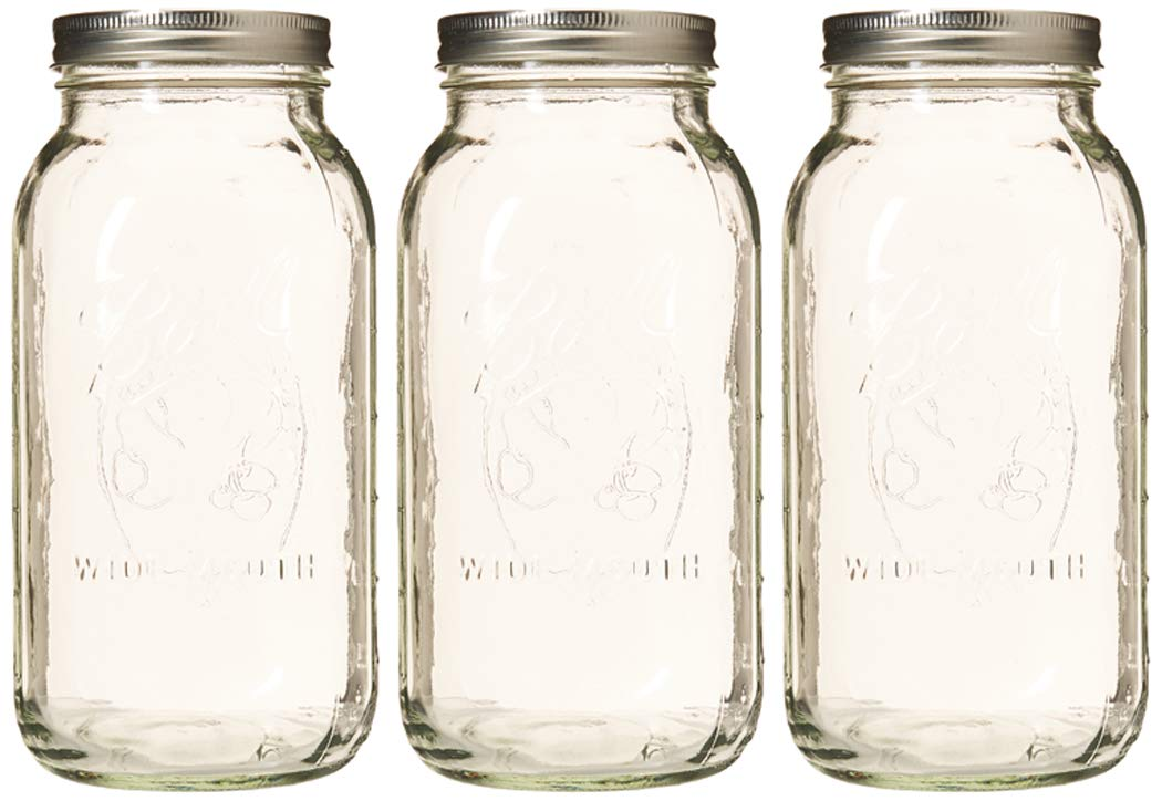 Ball 64 ounce Jar, Wide Mouth, Set of 3
