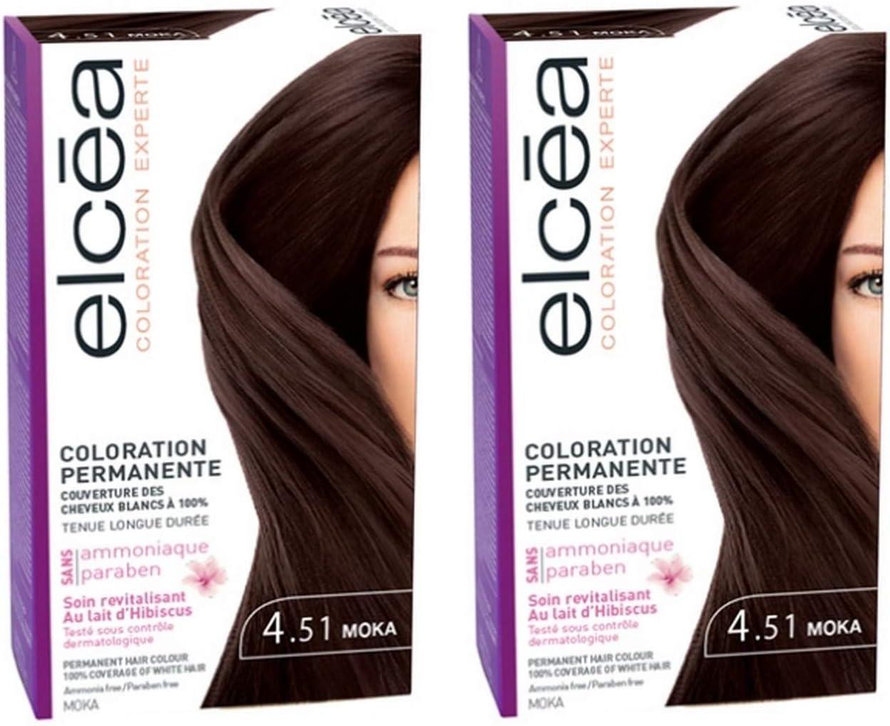 Elcea Color Permanente 4.51 Moka - Lote de 2: Amazon.es ...