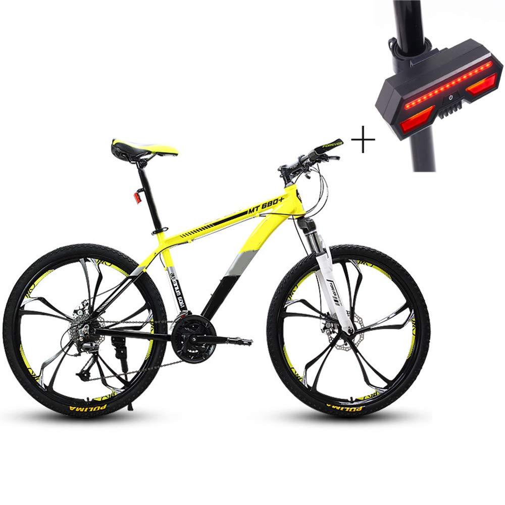 自転車、マウンテンバイク、26インチ27スピードディスクダブルブレーキアルミニウム合金高レンジオフロード車、+自転車ターンシグナル   B07GYZP96C