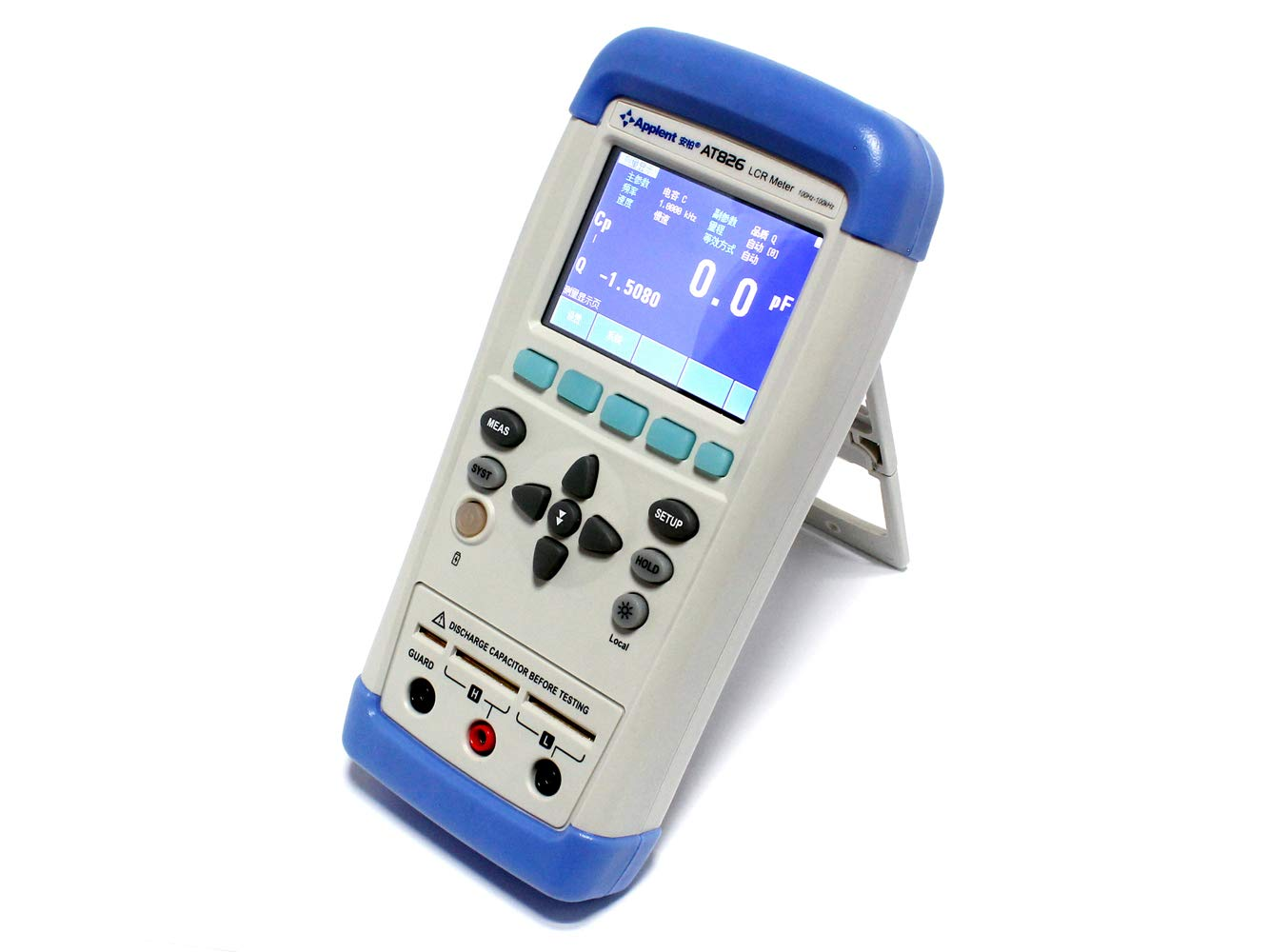 Handheld Digital LCR Meter Tester True-color TFT liquid crystal display ESR Tester Electric Bridge Touchscreen AT826 100Hz 120Hz 1kHz 10kHz 100kHz