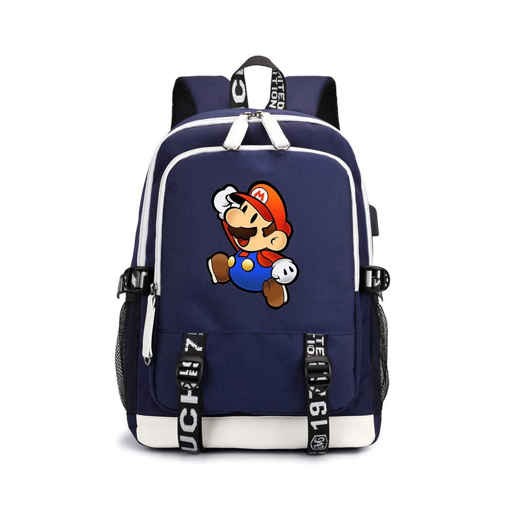 Super Mario Modelos de Pareja Mochila Multifuncional de Dise/ño Escolares Popular C/ómodo Mochila de Viaje Durable Mochila