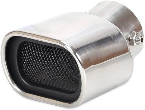 "4/"" Dia 2.25/"" 58mm 12/"" length Universal Stainless Exhaust Muffler Silencer Box"