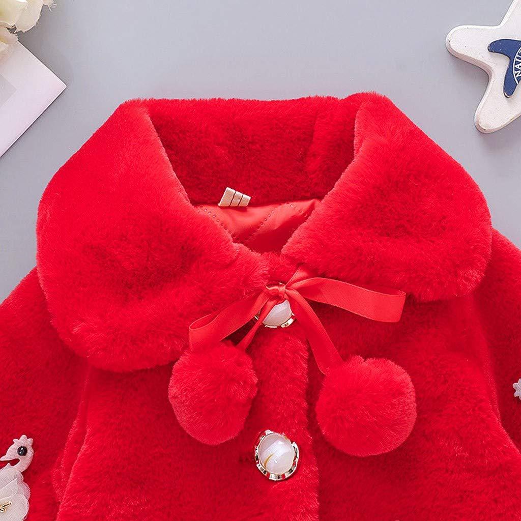 Babychoices Toddler Baby Girls Jacket Coat Winter Warm Cute Faux Fur Cape Windproof Warm Cloak Velvet Tops Clothes 0-3T