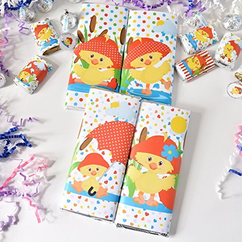 Hershey Bar Label - 48 Funny Girl Duck Candy Wrappers, Duck Girl Chocolate Bar Wrappers Baby Shower Labels, Duck Birthday Labels