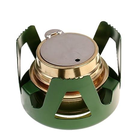 baoblaze Mini Estufa portátil compacta de aleación de aluminio con quemador Stand Saco de almacenaje para senderismo Outdoor Camping, Verde: Amazon.es: ...
