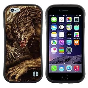 "Hypernova Slim Fit Dual Barniz Protector Caso Case Funda Para Apple (5.5 inches!!!) iPhone 6 Plus / 6S Plus ( 5.5 ) [Viñeta Retro Rústico de Halloween""]"