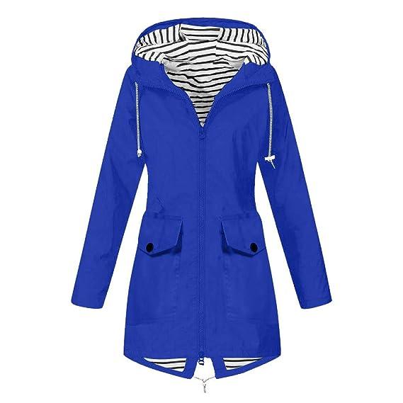 Womens Raincoat Windproof Rain Long Jacket Winter Outdoor Coat Waterproof Hooded
