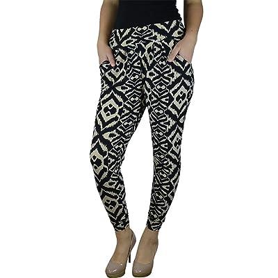Alfa Global Women's Plus Size Abstract Printed Harem Pants