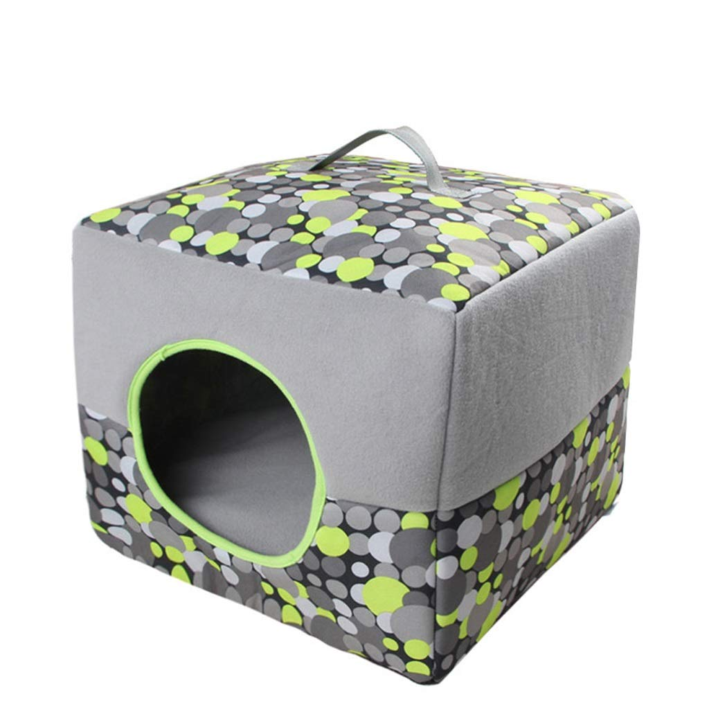 B&F Dog House, Four Seasons Dual-use Cat Litter Kennel Foldable Retractable Breathable Pet Cushion Pet Nest