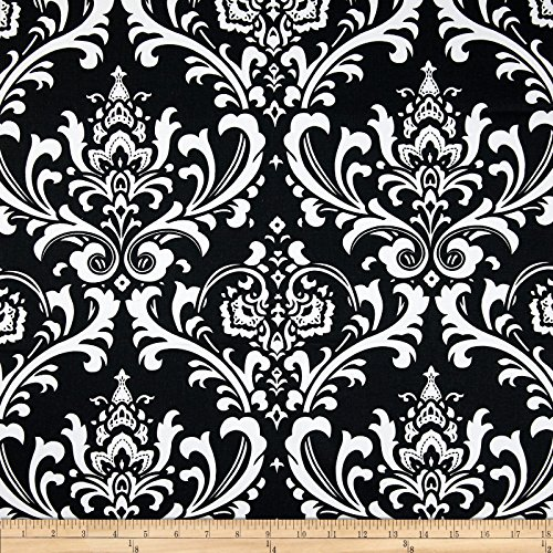 Premier Prints Ozborne Black/White Fabric By The Yard - Black White Upholstery Fabric