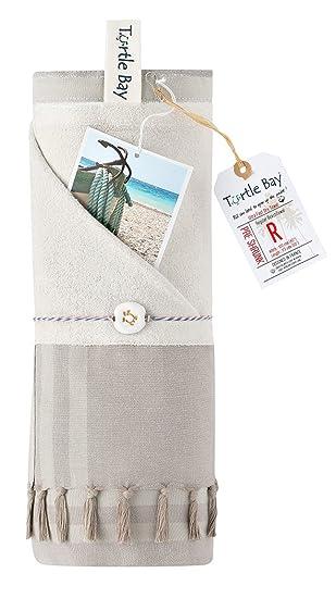Turtle Bay - Toalla de playa/Pareo toalla - Toalla de baño - Kikoy Towel - Talla: 95 x 175 cm: Amazon.es: Hogar