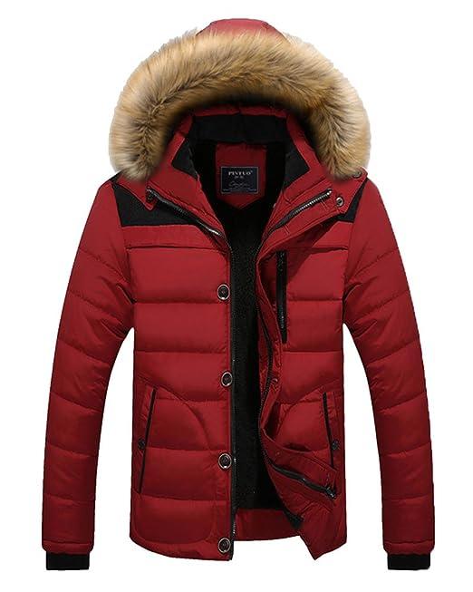 ZhuiKun Hombres Manga Larga Prendas De Vestir Exteriores Casual Jacket Chaqueta con Capucha Rojo S: Amazon.es: Ropa y accesorios