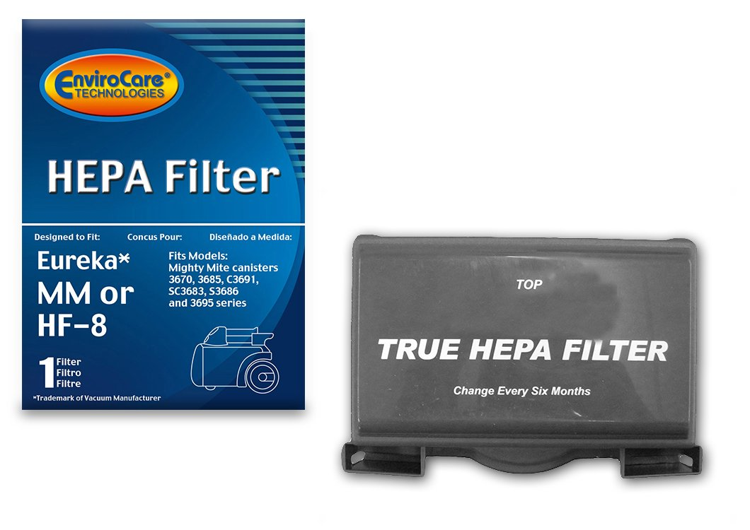 EnviroCare Replacement HEPA Filter for Eureka Sanitaire HF-8 MM Mighty Mite Pet Lover, Sanitaire Commercial Canister Vacuum Cleaners, 60666B, 60666A, 60666-6, EUR 60295-6
