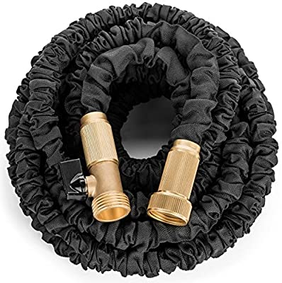 SIMPCO Expanding Hose, Strongest Expandable Garden Hose on the Planet. Solid Brass Ends, Double Latex Core, Extra Strength Fabric, 3/4