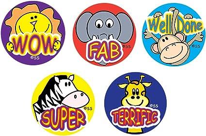 Sticker Solutions Cartoon Animals Reward Stickers (Pack of 180 ...