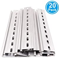 Erayco 20 Piezas DIN riel ranurado de Aluminio