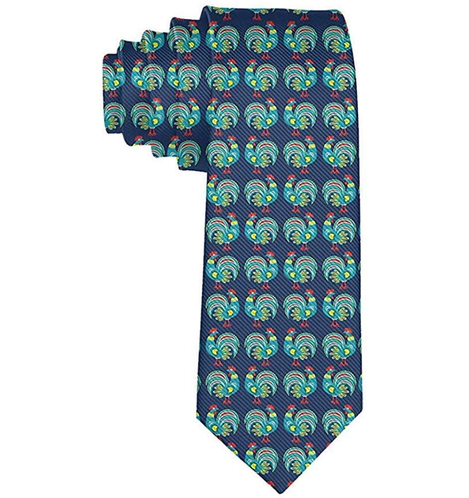 Corbata de patrón de gallo verde lindo de los hombres Corbata ...