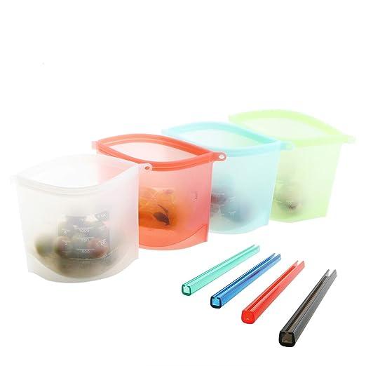Samyoung - Bolsa de silicona reutilizable para almacenamiento de ...