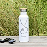 Engraved Nurse Water Bottle - 25 ounces (750ml) Premium Double Wall Insulated Vacuum Elemental Bottle - New School Year Gifts
