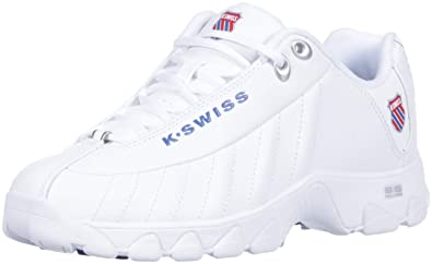 210fb4c4df40 K-Swiss Women s ST329 Heritage Sneaker White Classic Blue Ribbon red 5 M