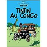 Poster Moulinsart Album de Tintin: Tintin au Congo 22010 (70x50cm)