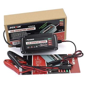 ZMM Cargador de batería de Coche 12V 5A Cargador de batería ...
