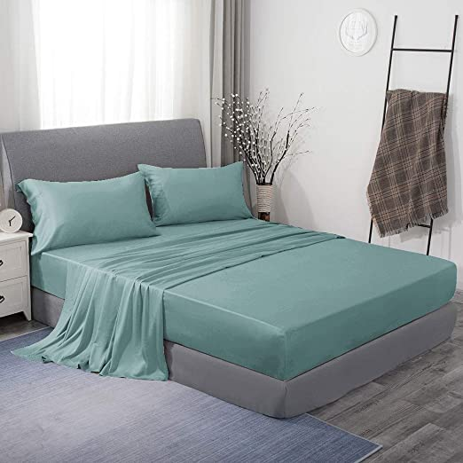 KING SIZE SHEETS 1800 Count 4P Bed Sheet Set Deep Pocket Hotel Luxury Sheets R1